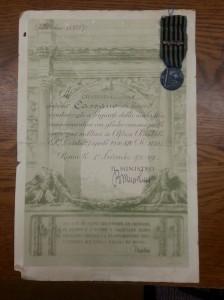 Antonio Cassano military papers